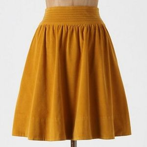 Edme & Esyllte Yellow Gold Field Skirt Size 6